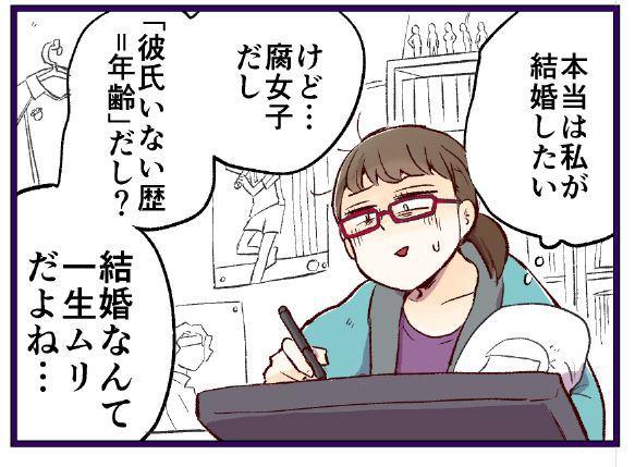 腐女子婚活4コマ 「このままだと本当に腐る」東京・大阪・名古屋 おたく腐女子の婚活